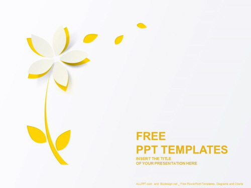 노란 종이꽃 PPT 템플릿 (1).JPG